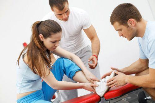 Травма ноги у спортсменки